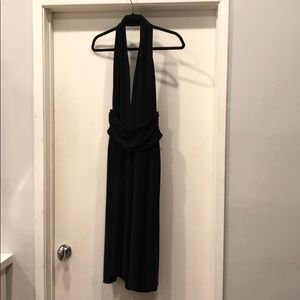 LAUNDRY black backless halter dress size 10.